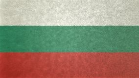 Original 3D image of the flag of Bulgaria. Useful also as a background or texture Royalty Free Stock Photography