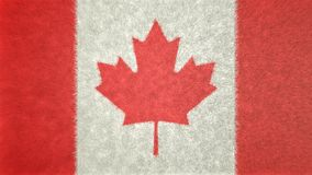 Original 3D image of the flag of Canada. 3D image of the flag of Canada. The symbol in the center and the colors white and red, characterize the flag Stock Images