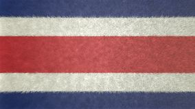 Original 3D image of the flag of Costa Rica. Useful also as a background or texture Royalty Free Stock Images