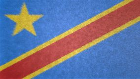 Original 3D image of the flag of the Democratic Republic of the Congo. Useful also as a background or texture Royalty Free Stock Photo