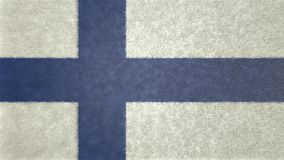 Original 3D image of the flag of Finland. Useful also as a background or texture Royalty Free Stock Images