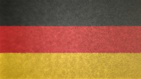 Original 3D image of the flag of Germany. Useful also as a background or texture Royalty Free Stock Photos