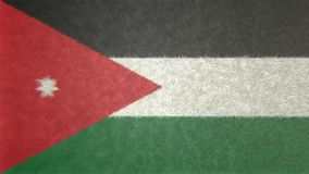 Original 3D image of the flag of Jordan. Useful also as a background or texture Royalty Free Stock Images