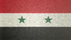 Original 3D image of the flag of Syria. Useful also as a background or texture Royalty Free Stock Photos