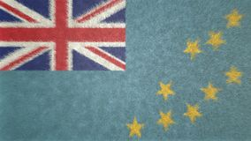 Original 3D image, flag of Tuvalu. Useful also as a background or texture Stock Photo