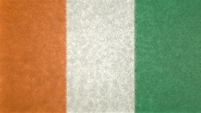 Original 3D image of the Ivory Coast flag. Useful also as a background or texture Stock Image