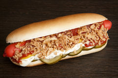 Original danish hot dog Stock Photo