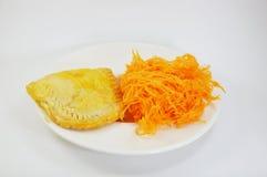 Original de fil d'or de jaune d'oeuf et tarte de fil d'or de jaune d'oeuf Images stock