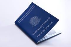 Original de trabalho brasileiro e original da segurança social (carteira d Foto de Stock