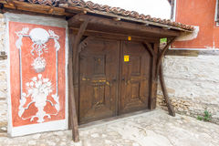 Original decoration and architecture of Koprivshtitsa in Bulgaria royalty free stock image