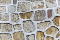 The original decoration of a house wall Stock Photography