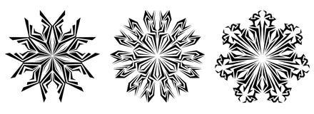 Original decorative snowflake on a white background. set Stock Photo