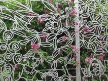 Original- dekorativ skyddsgaller för trädgården Royaltyfria Bilder