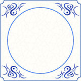 Original design of a delft blue tile Royalty Free Stock Photos