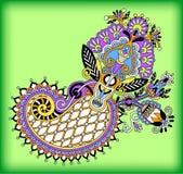 Original digital draw line art ornate flower Stock Photos
