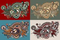 Original digital draw line art ornate flower Royalty Free Stock Images