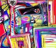 Original- digital målning av abstraktionen Arkivfoton