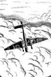 Digital sketch of World War 2 aircraft. Stock Photography