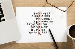 Original do plano da estratégia empresarial Imagem de Stock Royalty Free