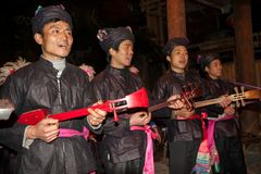 The Original Dong Chorus,Guizhou,china Stock Photo