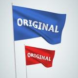 Original - drapeaux de vecteur Photographie stock