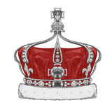 Original drawing of Crown. Isolated on white background Royalty Free Stock Photo