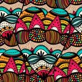 Original drawing tribal dodle spiral Stock Images