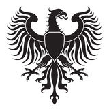 Original eagle crest. Easy to handle, change colors etc. Vector without gradients Royalty Free Stock Image