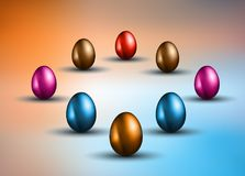 Original Easter design template with glossy 3D egg Stock Photography