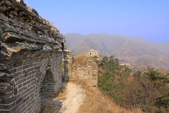 The original ecology of the great wall pass Royalty Free Stock Photo