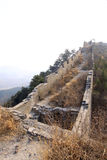 The original ecology of the great wall pass Royalty Free Stock Photography