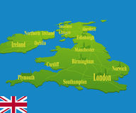Original England map Royalty Free Stock Image