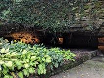Original entrance to Fantastic Caverns royalty free stock photography