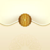 The original envelope with a gold clasp. Royalty Free Stock Image