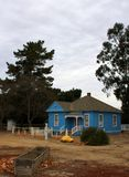 Original farmstead house at History of Irrigation Museum, King City, California. At the city park that houses the historical agricultural museum in central stock images