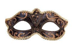The original festive carnival mask gold Royalty Free Stock Images