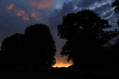 Original fiery sunset Royalty Free Stock Images