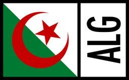 Algeria flag - Icon royalty free stock photos