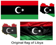 Original flag of Libya Stock Photography