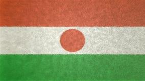 Original- flaggabild av Niger 3D stock illustrationer