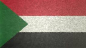 Original- flaggabild av Sudan 3D stock illustrationer