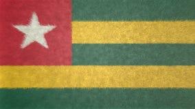 Original- flaggabild av Togo 3D royaltyfri illustrationer