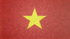 Original- flaggabild av Vietnam 3D royaltyfri illustrationer