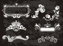 Original  Floral borders set frames Royalty Free Stock Images