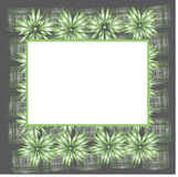 Original floral frame Royalty Free Stock Photography