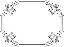 Original floral retro frame Stock Photography