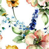Original floral seamless background with flowers Royalty Free Stock Photo
