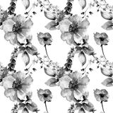 Original floral seamless background with flowers Royalty Free Stock Photos