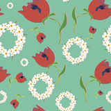 Original floral seamless pattern Royalty Free Stock Photo