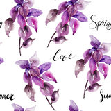 Original floral seamless wallpaper Stock Images